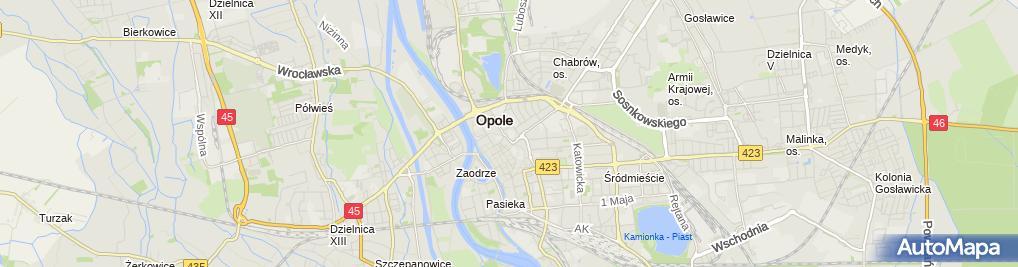 Zdjęcie satelitarne Urząd Miasta Wydział Oświaty