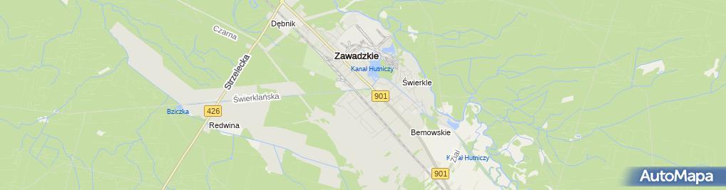 Zdjęcie satelitarne Urząd Miejski w Zawadzkiem