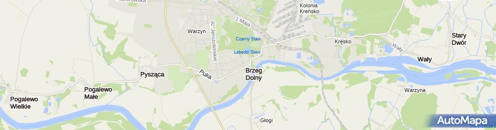 Zdjęcie satelitarne Powiatowy Urząd Pracy Filia