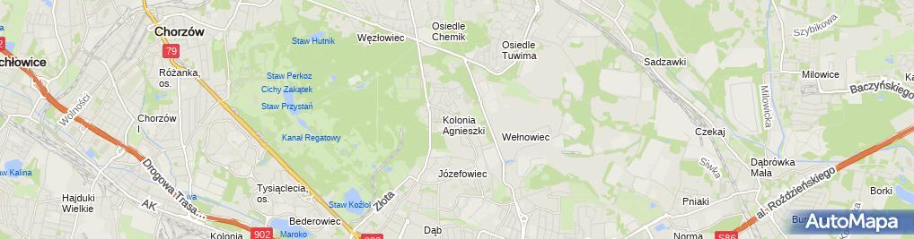 Zdjęcie satelitarne Katowice - Ul. Józefowska 119 (Szpital)