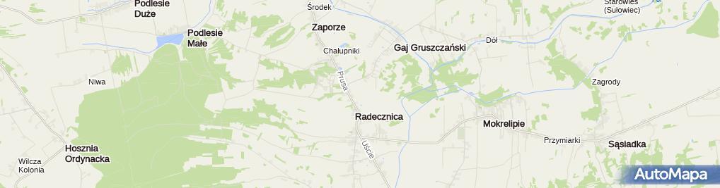 Zdjęcie satelitarne Kościół w Radecznicy