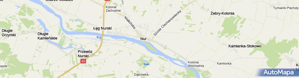 Zdjęcie satelitarne Nur zabudowa