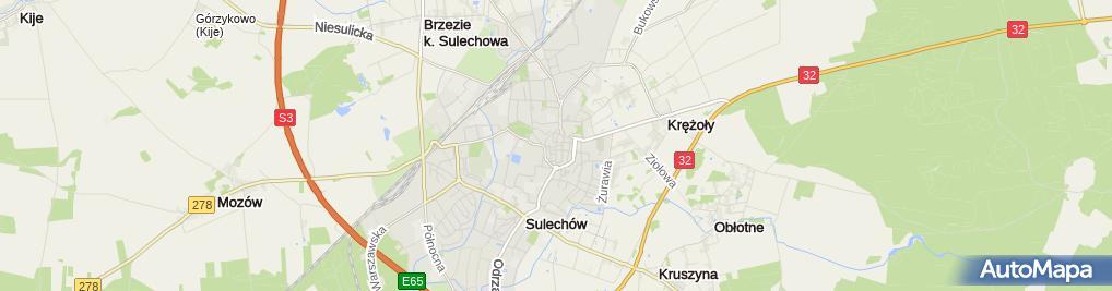 Zdjęcie satelitarne Ratusz Sulechów - tablica