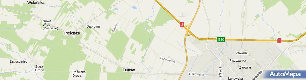 Zdjęcie satelitarne Tuliłów szkoła i remiza strażacka