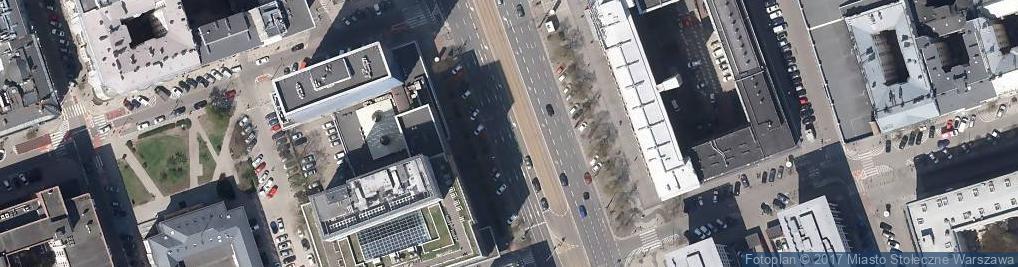 Zdjęcie satelitarne Od ronda Dmowskiego do okolic ulicy Pięknej