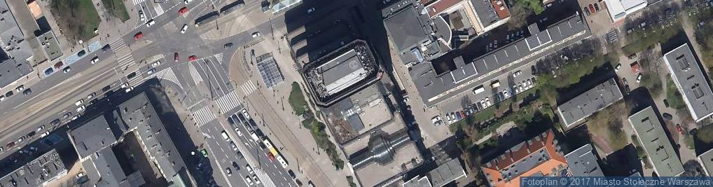 Zdjęcie satelitarne Błękitny Wieżowiec w Warszawie