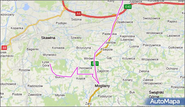 Rozkład jazdy autobusu 245 na przystanku Mogilany Ośrodek Zdrowia. MPKKrakow na mapie Targeo