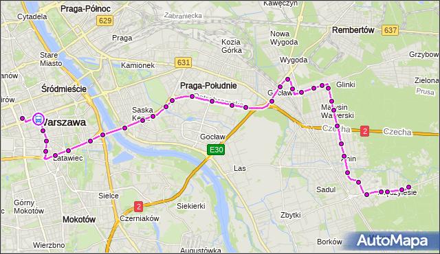 Rozkład jazdy autobusu N25 na przystanku CENTRUM 01. ZTM Warszawa na mapie Targeo