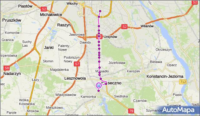 Rozkład jazdy autobusu 709 na przystanku POWSTAŃCÓW WARSZAWY 02. ZTM Warszawa na mapie Targeo