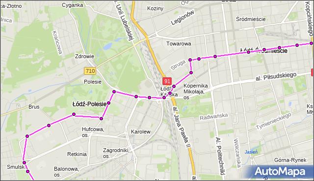 Rozkład jazdy autobusu 80 na przystanku Tuwima/Wysoka. MPK Łódź na mapie Targeo