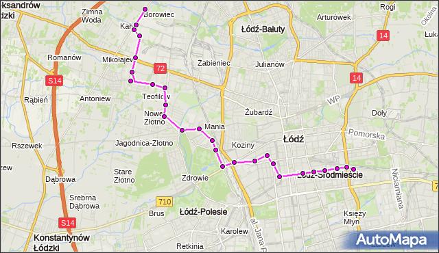 Rozkład jazdy autobusu 83 na przystanku Tuwima/Wysoka. MPK Łódź na mapie Targeo
