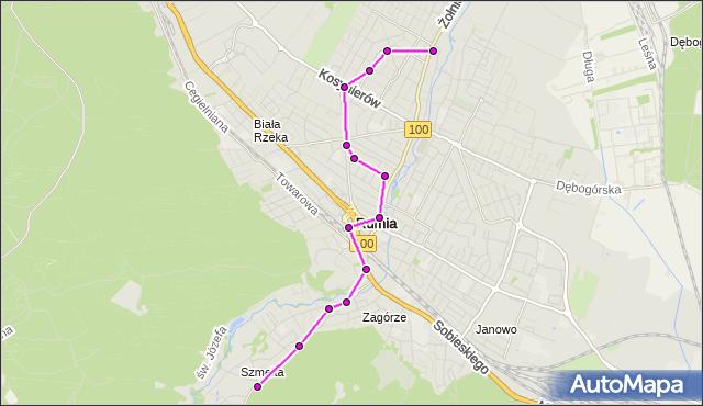 Autobus 85 - trasa Zielarska - Rumia Partyzantów. ZKMGdynia na mapie Targeo