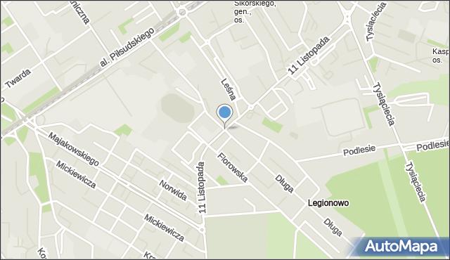 Dąbrowa Górnicza, 11 Listopada, mapa Dąbrowa Górnicza