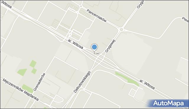 Lublin, Aleja Witosa Wincentego, mapa Lublina