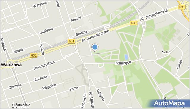Warszawa, Aleja Lorentza Stanisława, mapa Warszawy