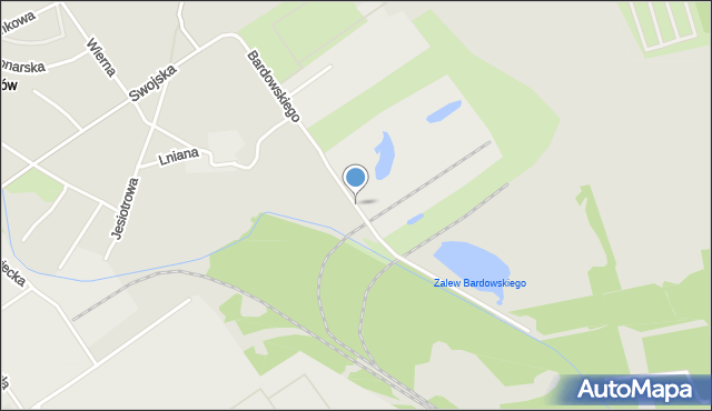 Warszawa, Bardowskiego Piotra, mapa Warszawy