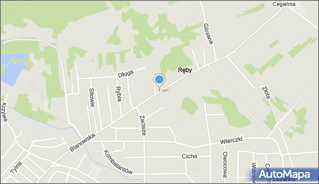 Zawiercie, Blanowska, mapa Zawiercie
