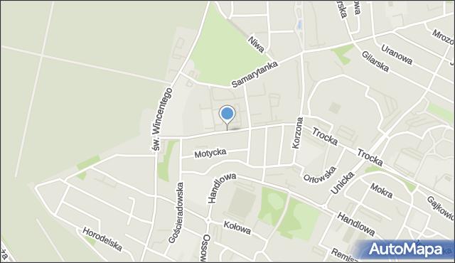 Warszawa, Borzymowska, mapa Warszawy
