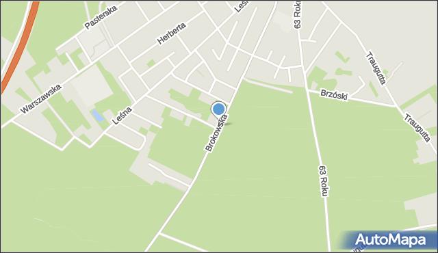 Ostrów Mazowiecka, Brokowska, mapa Ostrów Mazowiecka
