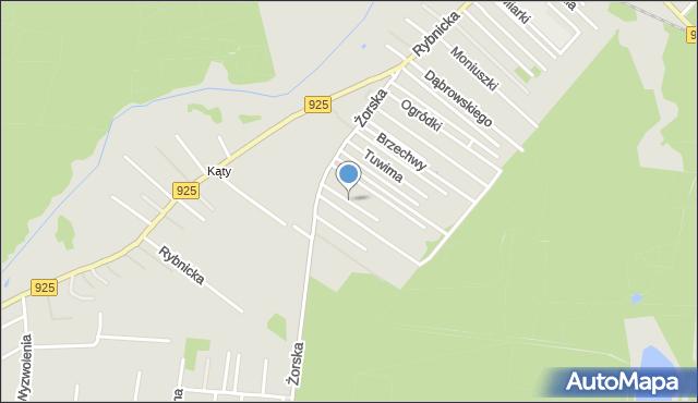 Orzesze, Bzów, mapa Orzesze