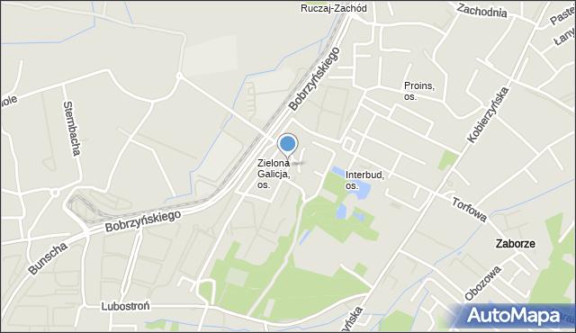 Kraków, Chmieleniec, mapa Krakowa