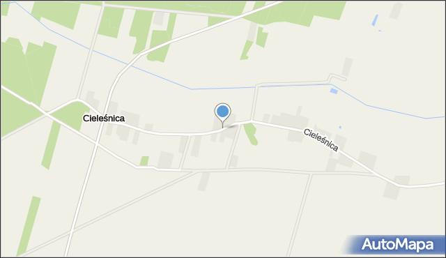Cieleśnica, Cieleśnica, mapa Cieleśnica