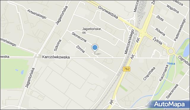 Kielce, Ciepła, mapa Kielc