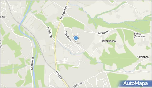 Limanowa, Dębowa, mapa Limanowa