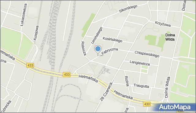 Poznań, Fabryczna, mapa Poznania