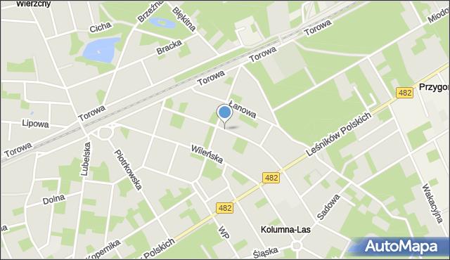Łask, Gdańska, mapa Łask