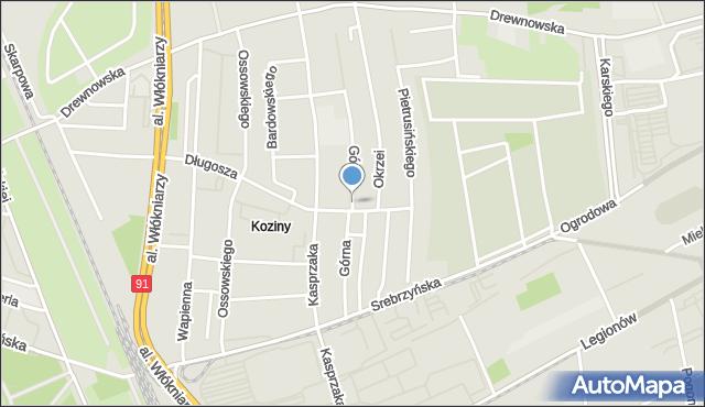 Łódź, Górna, mapa Łodzi