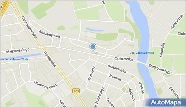 Warszawa, Gołkowska, mapa Warszawy