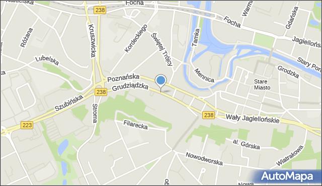 Bydgoszcz, Grudziądzka, mapa Bydgoszczy