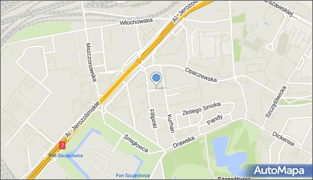 Warszawa, Hubera Maksymiliana Tytusa, mapa Warszawy