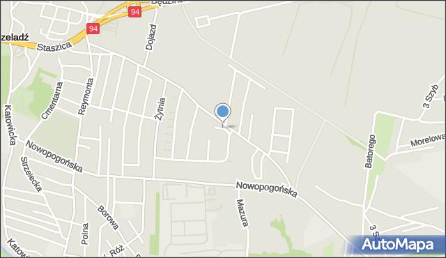 Czeladź, Jaśminowa, mapa Czeladź
