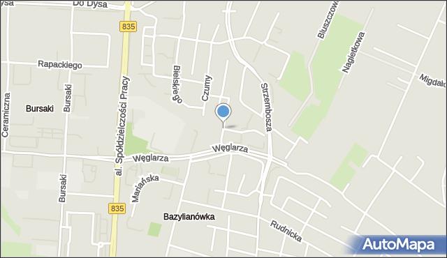 Lublin, Jagodowa, mapa Lublina