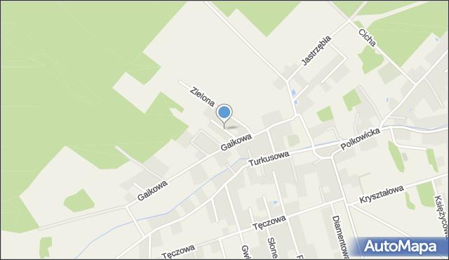 Sobin, Jagodowa, mapa Sobin