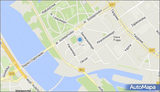 Warszawa, Jasińskiego Jakuba, mapa Warszawy