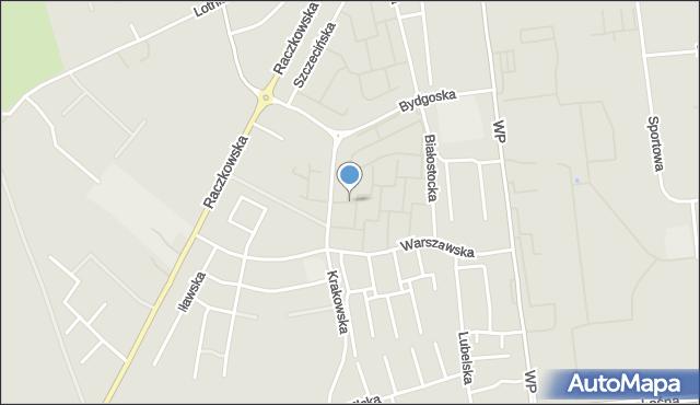 Suwałki, Konińska, mapa Suwałk