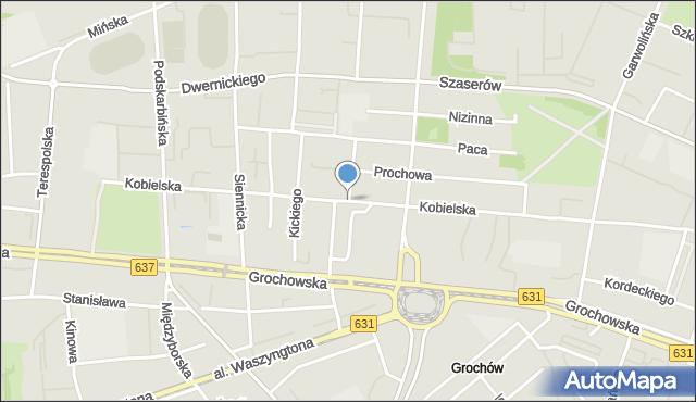 Warszawa, Kobielska, mapa Warszawy