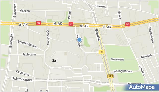 Wrocław, Krynicka, mapa Wrocławia