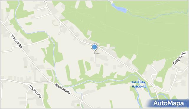 Radziszów, Łąkowa, mapa Radziszów