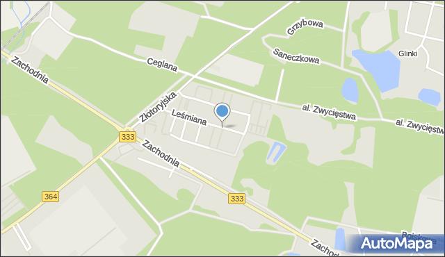 Legnica, Lechonia Jana, mapa Legnicy