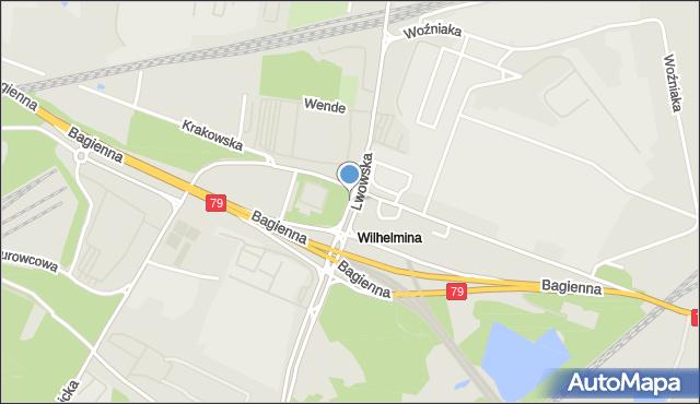 Katowice, Lwowska, mapa Katowic
