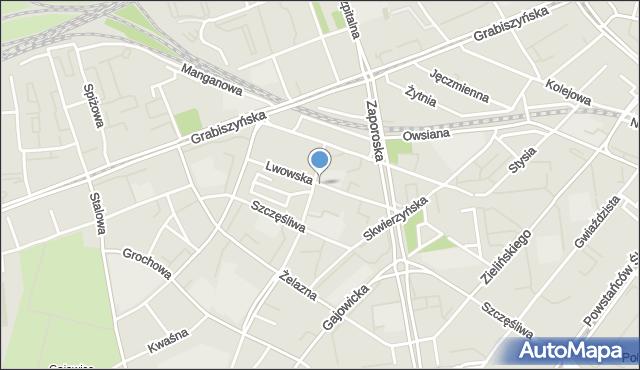 Wrocław, Lwowska, mapa Wrocławia