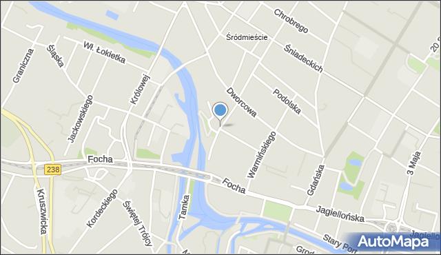 Bydgoszcz, Marcinkowskiego Karola, mapa Bydgoszczy