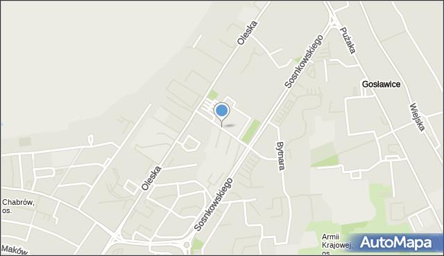 Opole, Mikołajczyka Stanisława, mapa Opola
