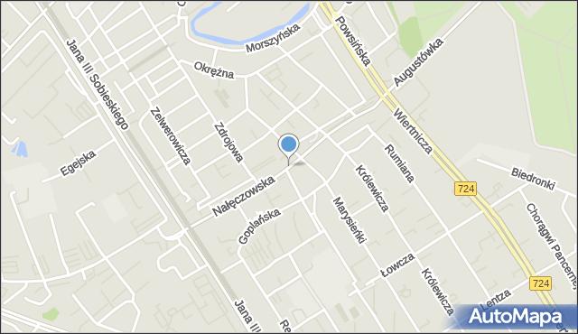Warszawa, Nałęczowska, mapa Warszawy