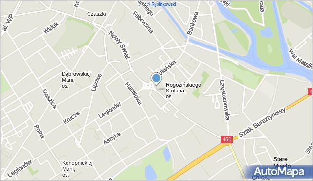 Kalisz, Nowy Świat, mapa Kalisza