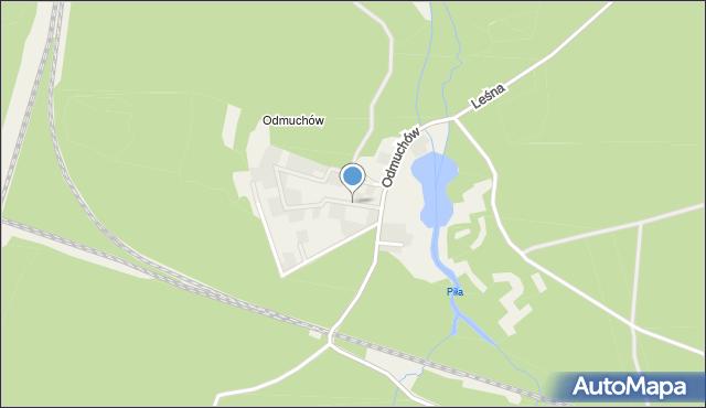 Potępa, Odmuchów, mapa Potępa